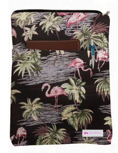 Pink Flamingo Book Sleeve - 100% Cotton Fabric