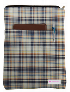 Plaid It Up Book Sleeve - 100% Cotton Fabric