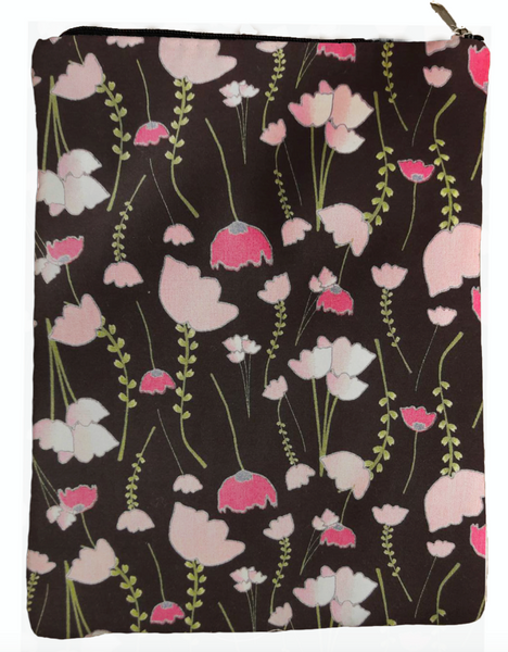 Poppy Flower Book Sleeve - 100% Cotton Fabric