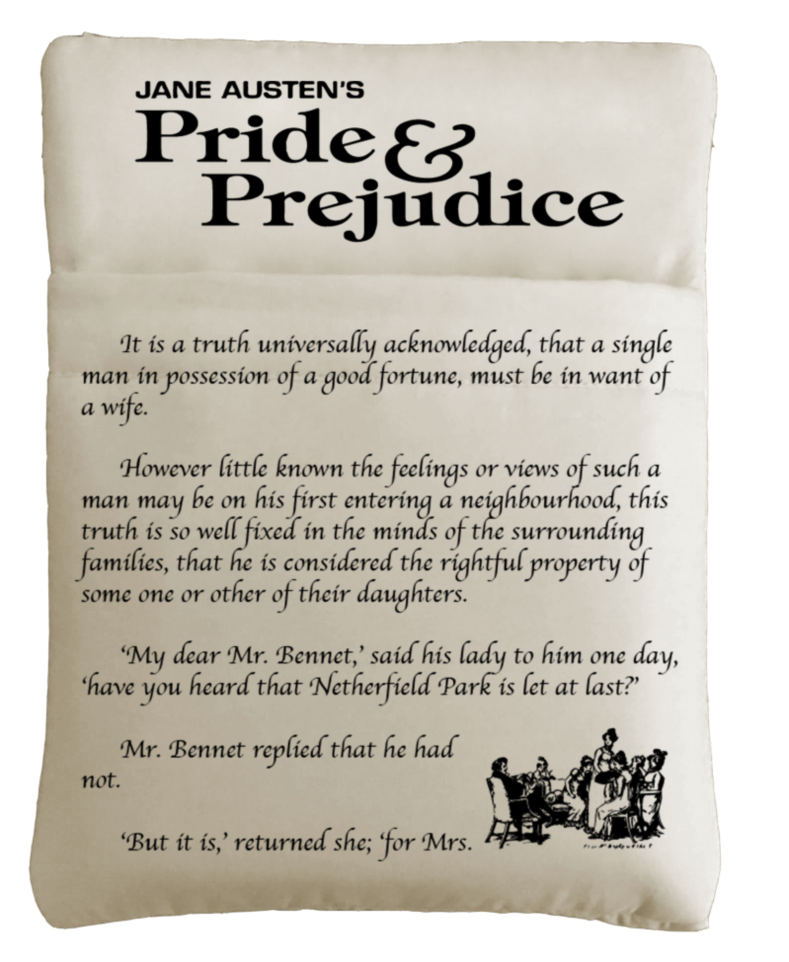 1 Pride & Prejudice and 1 Different Classic Literature-Themed Grande Book Sleeve