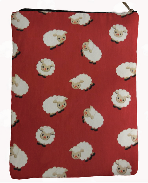 Red Sheep Book Sleeve - 100% Cotton Fabric