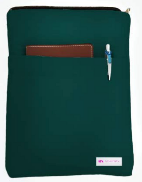 Dark Green Book Sleeve - 100% Cotton Fabric