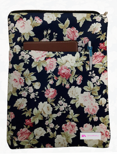 Vintage Floral Book Sleeve - 100% Cotton Fabric