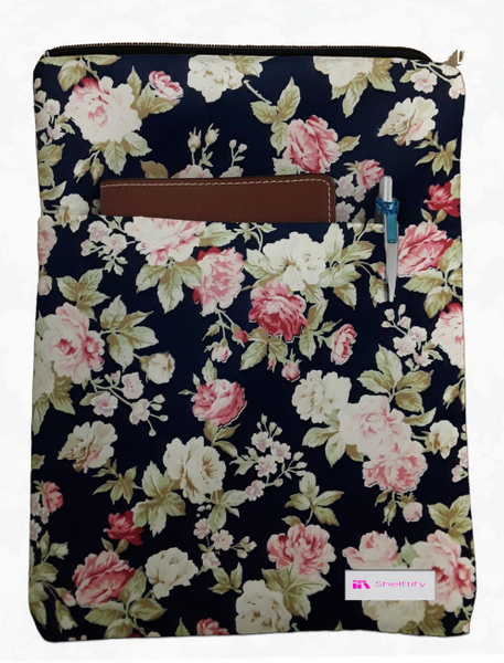 Vintage Floral Grande Book Sleeve - 100% Cotton Fabric