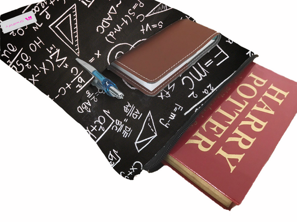Scientific Formulas Book Sleeve - Book Cover For Hardcover and Paperback - Book Lover Gift - Notebooks and Pens Not Included