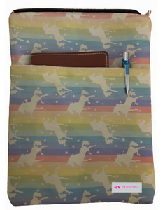 Unicorns Book Sleeve - 100% Cotton Fabric