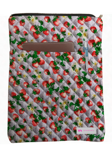 Strawberry Book Sleeve - Quilt Fabric