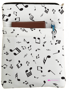 Musical notes Book Sleeve - Book Cover For Hardcover and Paperback - Book Lover Gift - Notebooks and Pens Not Included