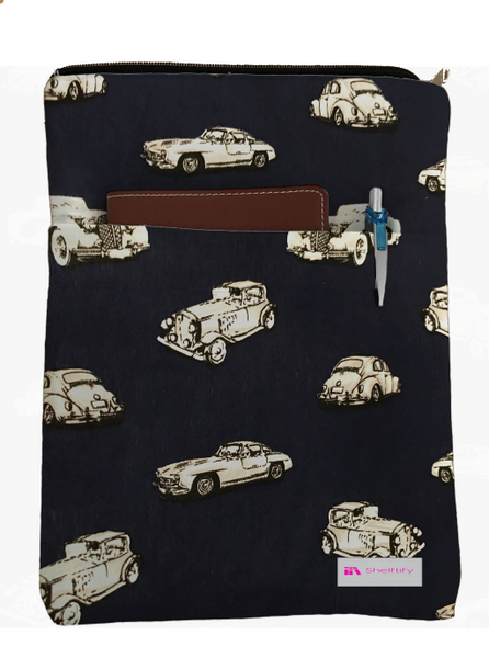 Classic Car Book Sleeve - 100% Cotton Fabric