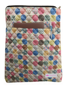 Fancy Circle Book Sleeve - Quilt Fabric