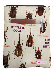 Japanese Beetle Book Sleeve - Deluxe Japanese Cotton
