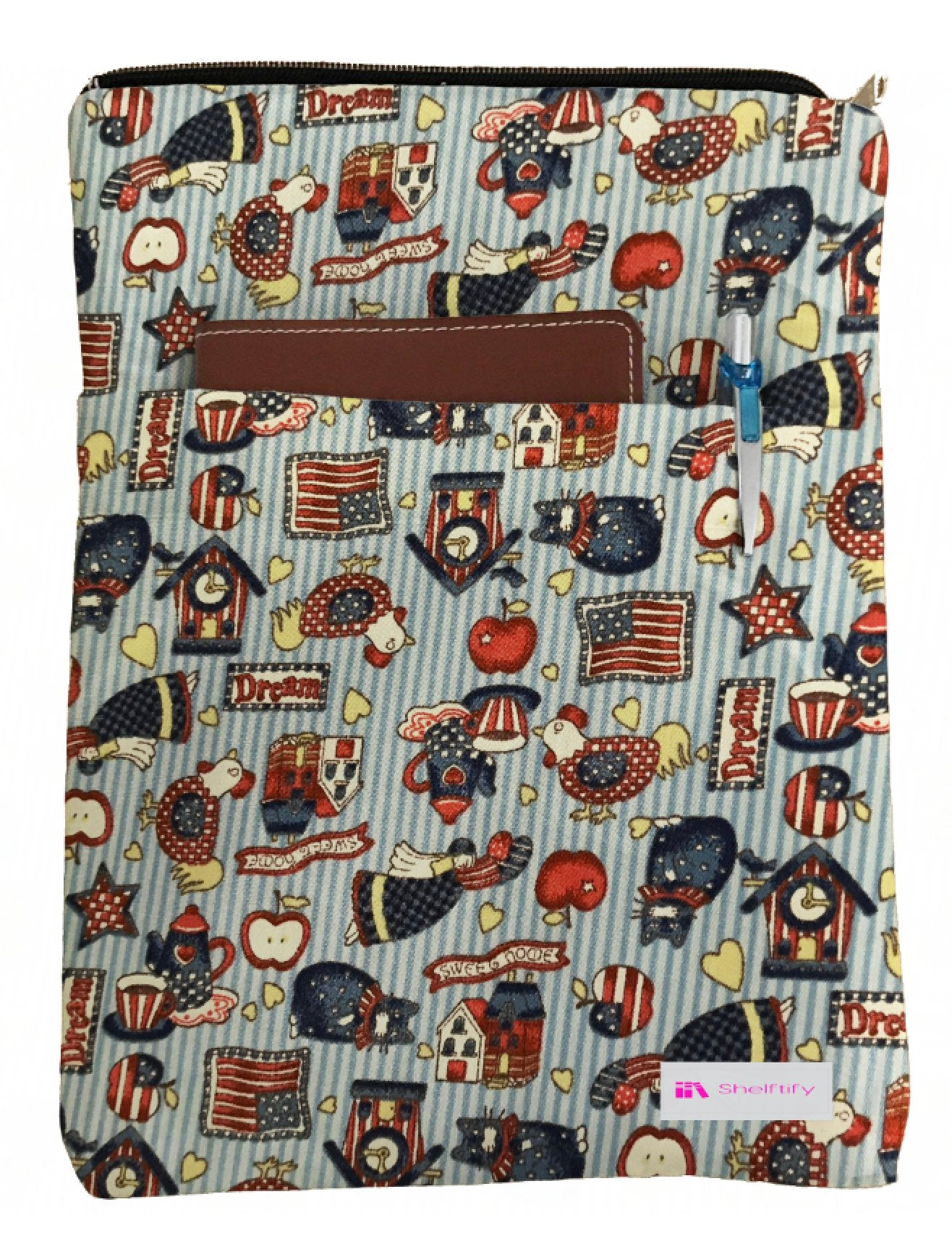 Chicken Book Sleeve - 100% Cotton Fabric