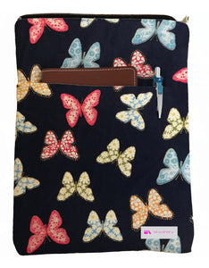 Butterflies Book Sleeve - 100% Cotton Fabric