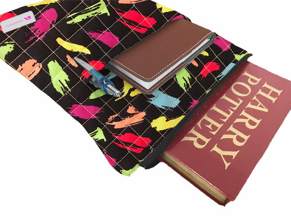 Paint Brushstroke Book Sleeve - Quilt Fabric