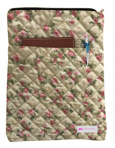 Elegant Flowers Book Sleeve - Quilt Fabric