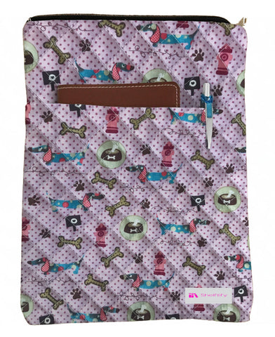 Dogs & Bones Book Sleeve - Quilt Fabric