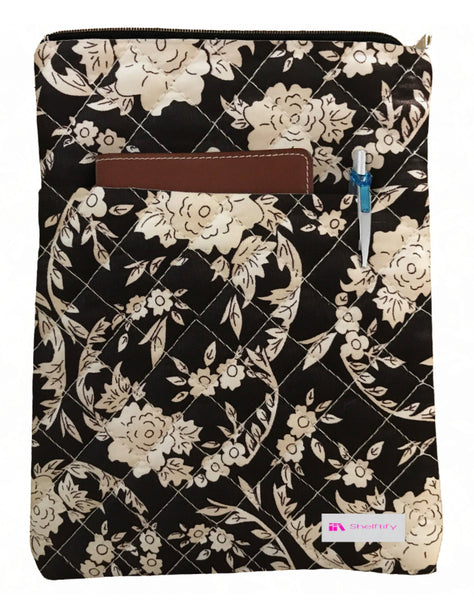 Floral Swirls Book Sleeve - Quilt Fabric