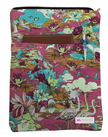 Oriental Garden Book Sleeve - Deluxe Japanese Cotton