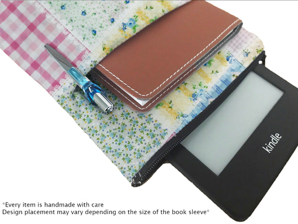 Patchwork Book Sleeve - 100% Cotton Fabric
