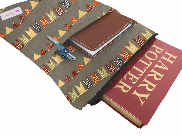 Flags Everywhere Book Sleeve - 100% Cotton Fabric