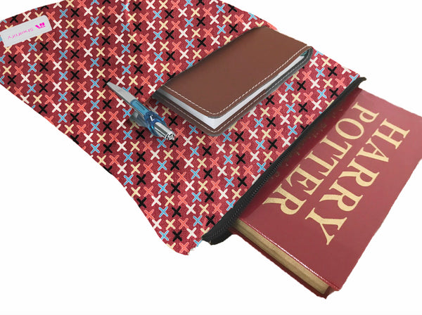 XXX (Kisses) Book Sleeve - 100% Cotton Fabric