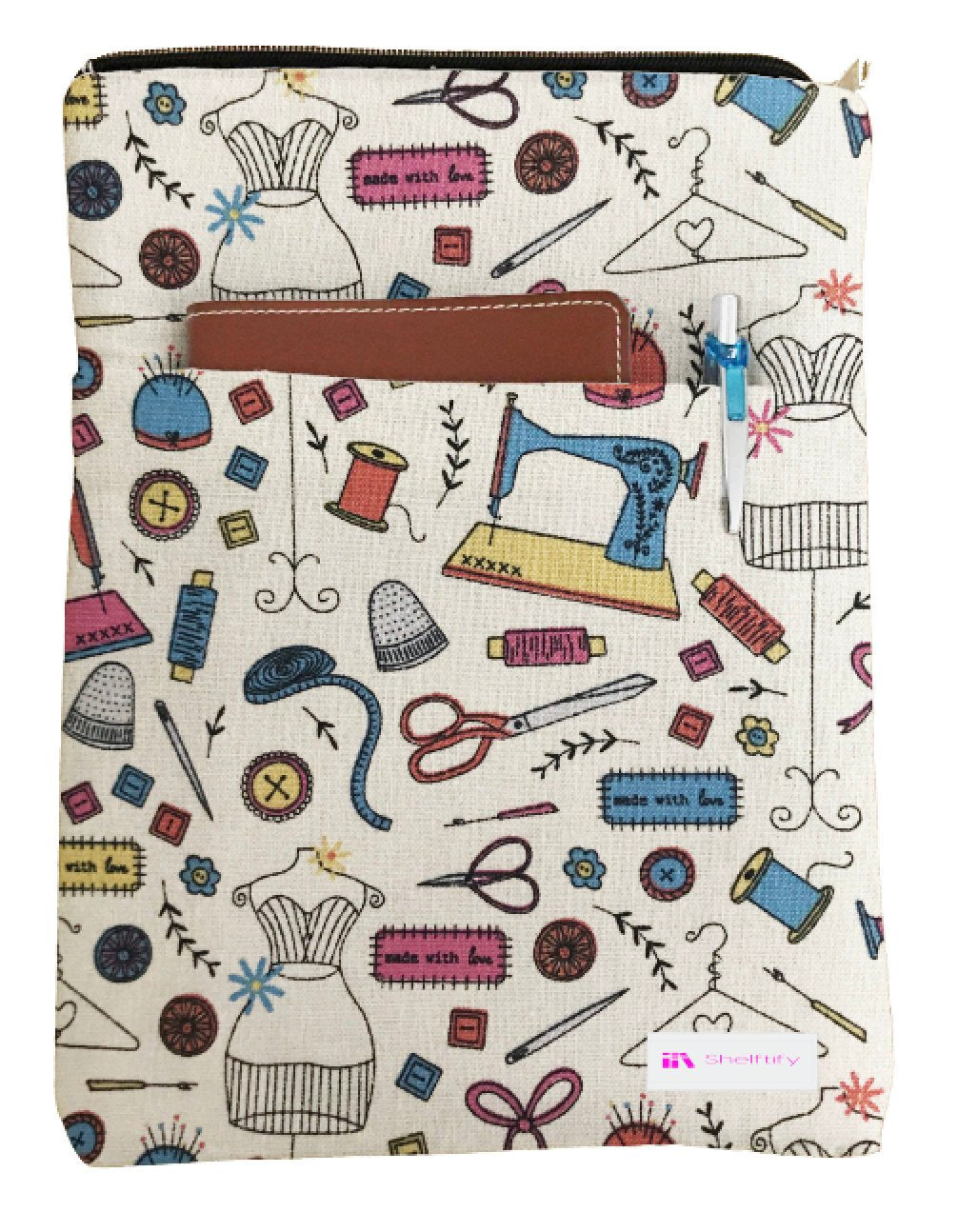 We Love Sewing Book Sleeve - 100% Cotton Fabric