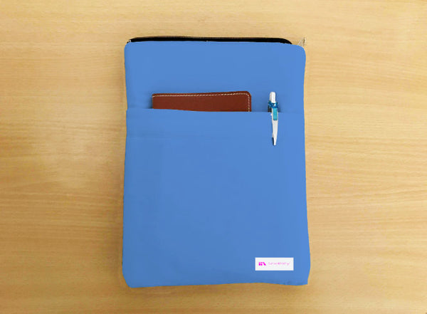 Cornflower Blue Book Sleeve - Luxurious Thai Silk