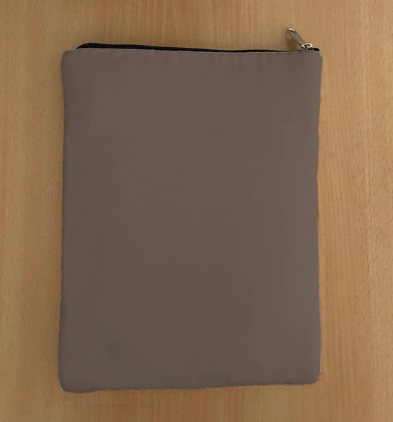 Ash Grey Book Sleeve - Luxurious Thai Silk