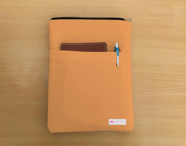 Apricot Book Sleeve - Luxurious Thai Silk