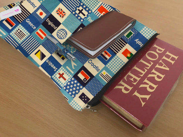 Travel Lover Book Sleeve - Deluxe Japanese Cotton