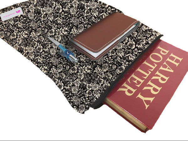Golden Floras Book Sleeve - 100% Cotton Fabric