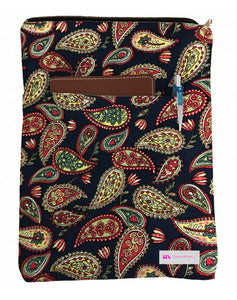 Leaves Book Sleeve - 100% Cotton Fabric
