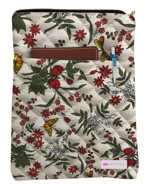 Beautiful Flowers Book Sleeve - Quilt Fabric