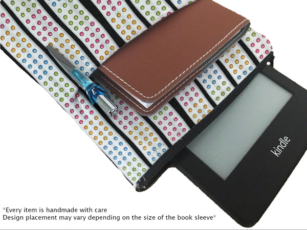 The Domino Effect Book Sleeve - Deluxe Japanese Cotton
