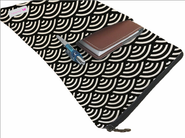 Waves Book Sleeve - 100% Cotton Fabric