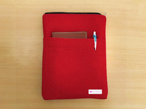 Apple Red Book Sleeve - Luxurious Thai Silk