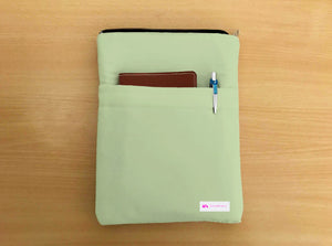 Tea Green Book Sleeve - Luxurious Thai Silk