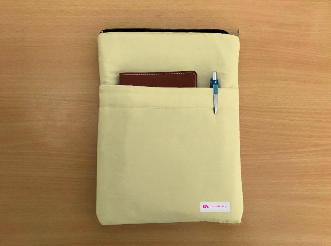 Buttermilk Book Sleeve - Luxurious Thai Silk