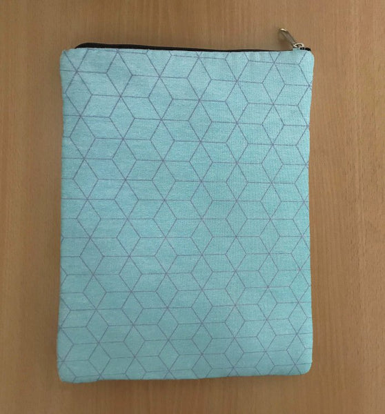 Geometric Print Book Sleeve - 100% Cotton Fabric