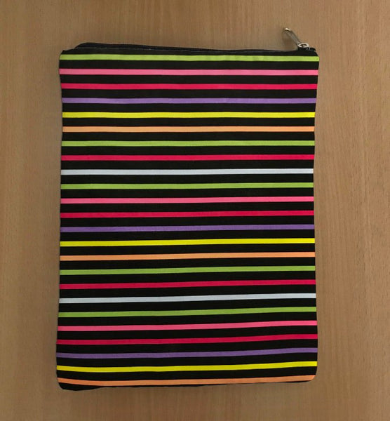 Multi-Color Book Sleeve - 100% Cotton Fabric