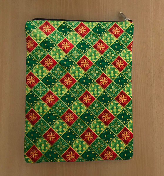 Christmas Book Sleeve - 100% Cotton Fabric