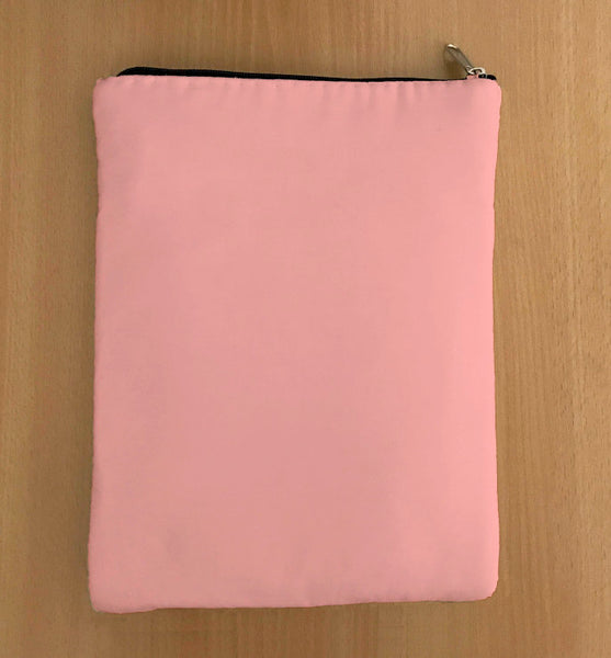 Rose Pink Book Sleeve - 100% Cotton Fabric