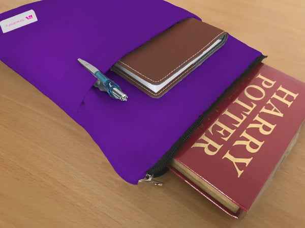 Dark Purple Book Sleeve - 100% Cotton Fabric