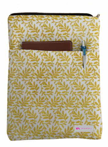 Yellow Leaves Book Sleeve - 100% Cotton Fabric