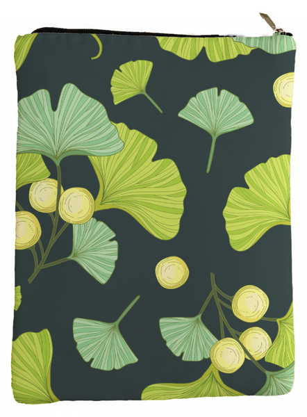 Ginkgo Biloba Book Sleeve - Book Cover For Hardcover and Paperback - Book Lover Gift - Notebooks and Pens Not Included