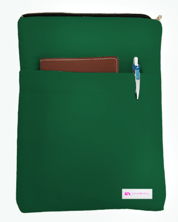 Pine Green Book Sleeve - 100% Cotton Fabric
