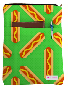 Hot Dogs Please Book Sleeve - Book Cover For Hardcover and Paperback - Book Lover Gift - Notebooks and Pens Not Included
