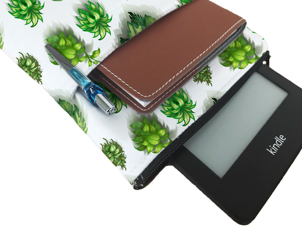 Lovely Plants Book Sleeve - Book Cover For Hardcover and Paperback - Book Lover Gift - Notebooks and Pens Not Included