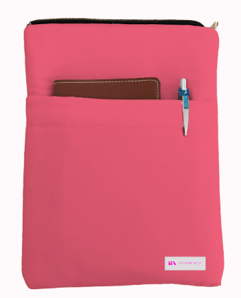Rouge Pink Book Sleeve - 100% Cotton Fabric