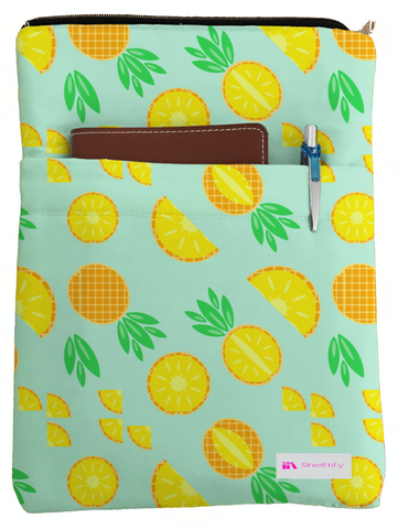 Pineapple Book Sleeve - Book Cover For Hardcover and Paperback - Book Lover Gift - Notebooks and Pens Not Included